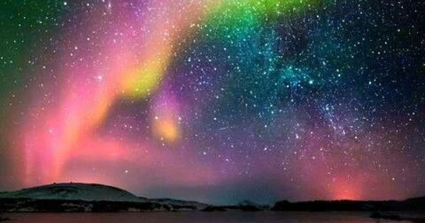 aurora borealis and milky way, Iceland. bucket list for sure!