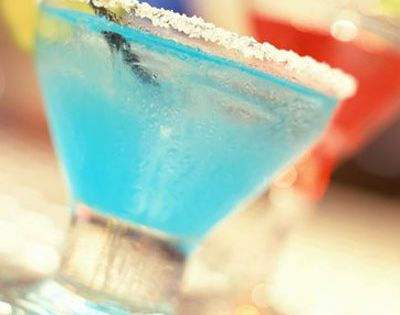 Blue Christmas Margaritas