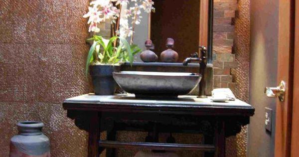 Prachtig oosterse wastafel toilet idee n pinterest wastafel badkamer en ibiza - Zen doucheruimte ...