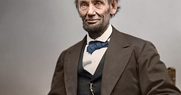 Shorpy Historical Photo Archive :: Abraham Lincoln (Colorized): 1865 Deegan is so