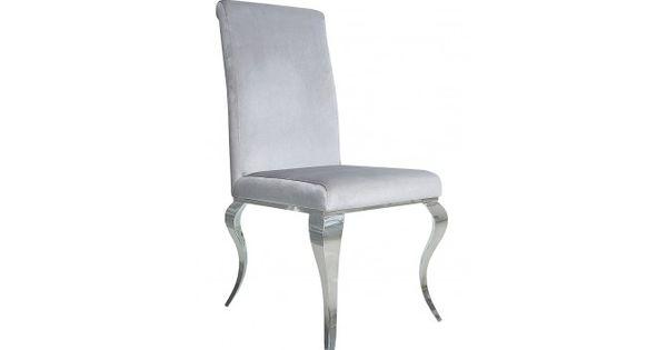Chaise Design Confortable Velours Gris Style Baroque Zita Gdegdesign Chaise Design Salle A Manger Moderne Chaise