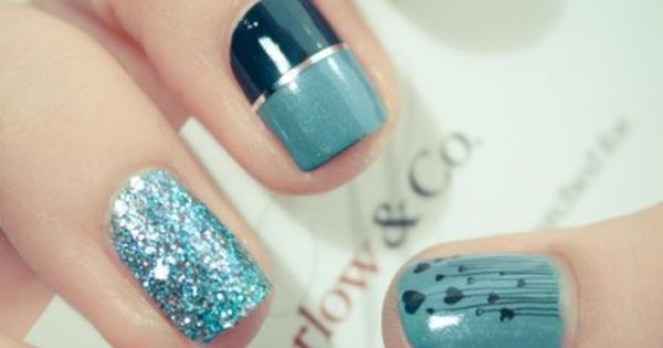 Cute Nails! my favorite color!