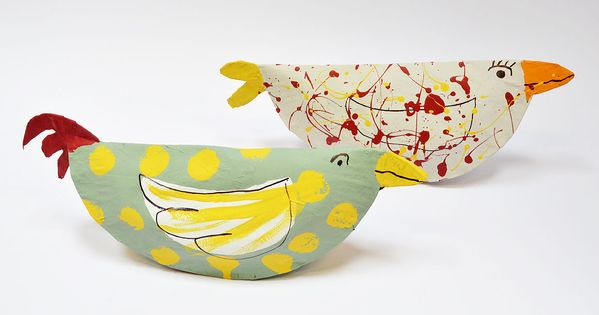 paper plate kids crafts | paper-plate-chickens-finished