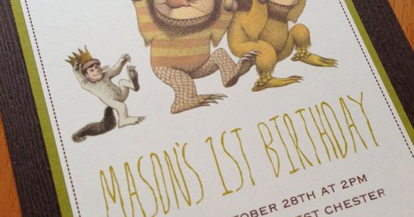 Where the Wild Things Are Birthday Invitation.