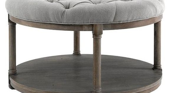 Brownstone Lorraine Round Upholstered Coffee Table Upholstered Coffee Tables Lorraine And