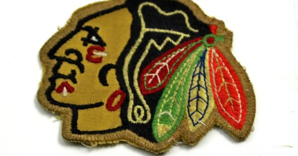 Nhl Chicago Blackhawks Indian Head Logo Insignia Cloth Stitched Patch 3x3 5 Indian