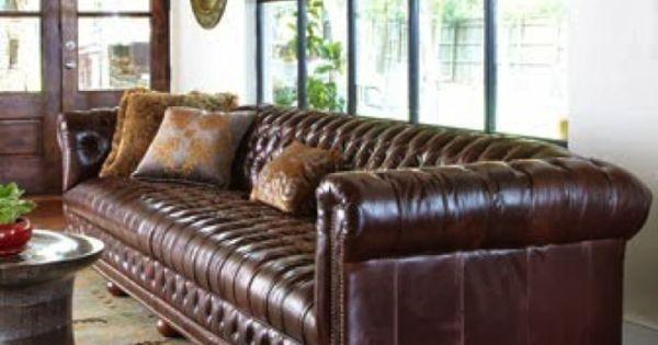 Chesterfield Sofa All Tufted No Cushions Big Feet