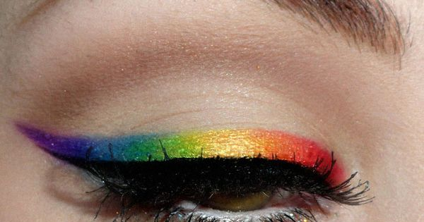 Simple rainbow makeup rainbow eyeshadow ColorfulMakeup