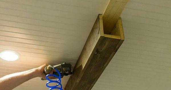 Fausse poutre deco maison pinterest meilleures id es for Fausses poutres pour plafond
