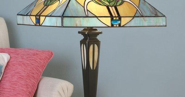 Lampada da Tavolo o Scrivania Tiffany quadrata  Lampade da Tavolo Tiffany  Pinterest  Lampada ...