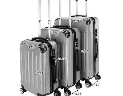 3 In 1 Portable Abs Trolley Case Luggage Travel Set Suitcase In 2020 Travel Luggage Set Luggage Sets Spinner Luggage Sets