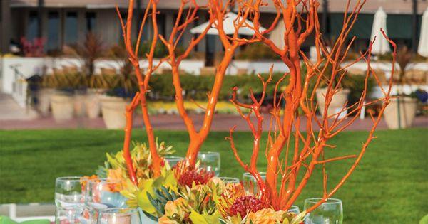 deco centre de table mariage rouge branche arbre rouge deco orange et vert pinterest deco. Black Bedroom Furniture Sets. Home Design Ideas