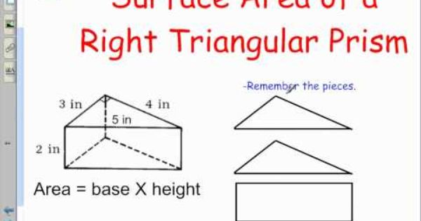 Section 4 3 And 4 4 Surface Area Of Rectangular And Triangular Prism Triangular Prism Teaching Math Volume Math