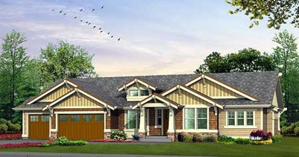 Craftsman rambler house pinterest craftsman house for Craftsman rambler house plans