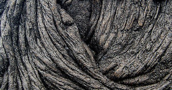 Nature's mysterious beauties! Sleeping Pele, a natural lava flow on Big Island,