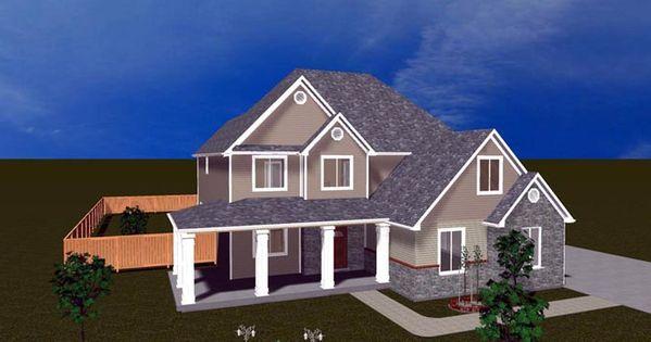 Elevation of House Plan 50413 | HOUSE PLANS | Pinterest ...