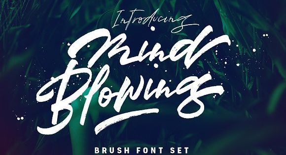 Mind Blowing 3 Brush Font Set – lovely fonts combination would be perfect to combine in your design