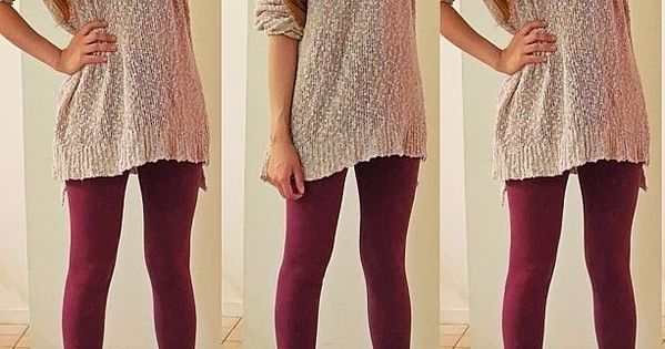 The Proper Way to Wear Leggings (With Long Shirts ...