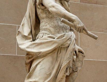 Emperor Augustus as a nude hero (a close-up). Naples