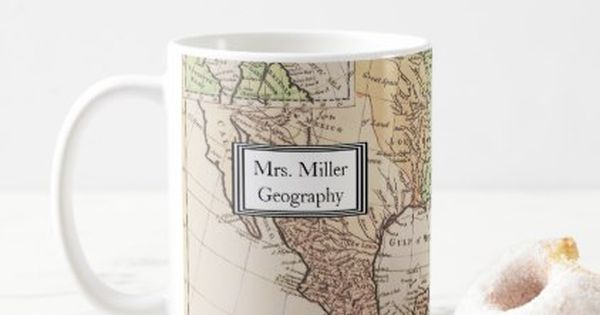 Cool Vintage New World Map Geography Teacher Coffee Mug Zazzle Com New World Map Coffee Mugs Vintage Mugs