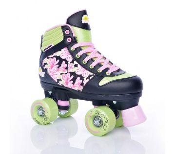 By Olis Rookie Classic II White Quad Roller Skates With Skate Bag