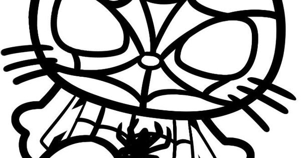Hello Kitty Superhero Coloring Pages : Spider man hello kitty pinterest