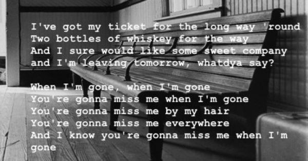 Im gonna miss you lyrics
