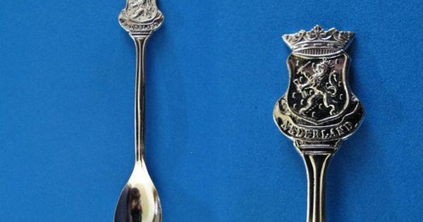 Collectors Spoon NETHERLANDS Souvenir Collectors Spoon Collectors Tea Spoon Vintage SILVER Souvenir SPOON Dutch Man With Pails