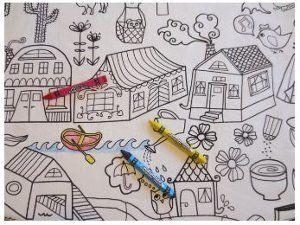 Diy Coloring Book Tablecloth Diy Coloring Books Coloring Books Diy Tablecloth