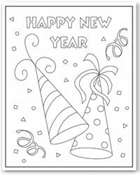 New Years Coloring Pages New Year Coloring Pages Kids New Years