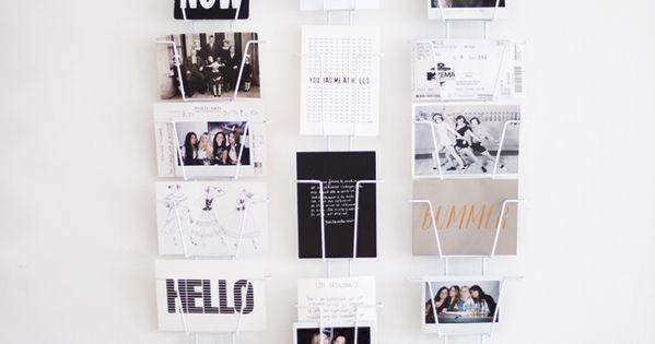 postkartenhalter f r den flur erinnerungen und. Black Bedroom Furniture Sets. Home Design Ideas