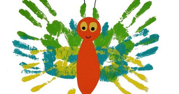 cute idea for kids! Butterfly handprints
