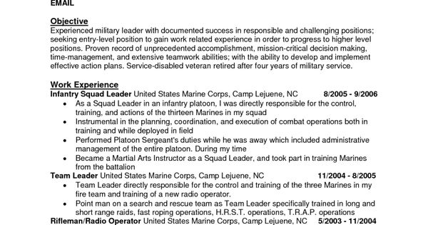 10 Army Infantry Resume Examples