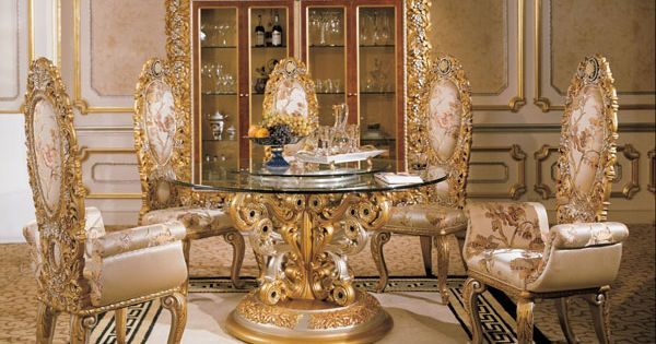 Italian Baroque Interior Design Italian Round Dining Room In Classic