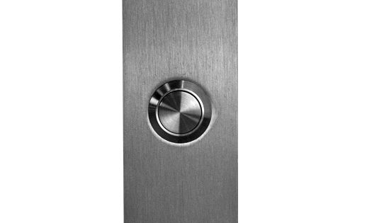 Satin Stainless Steel Rectangular Door Bell Button Ahi