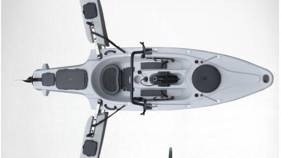 Newest folding fishing kayak with 40lbs motor denizcilik for Fissot fishing kayak