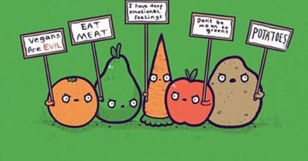 Funny Vegetable Protest Joke Cartoon Picture Funny Vegetables Happy Drawing Funny Illustration