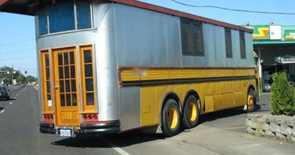 School Bus Conversion Camper Homemade Truck Campers
