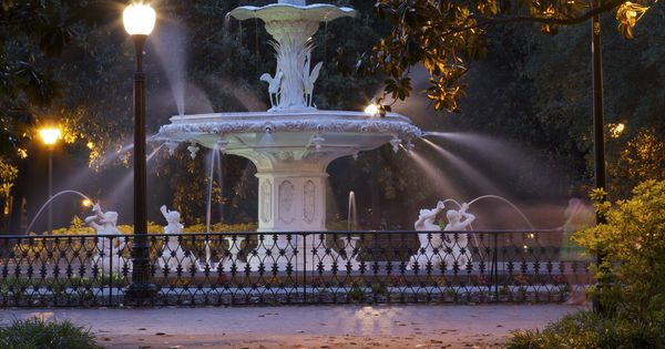 Forsyth Fountain In Savannah Georgia Our Engagement Spot