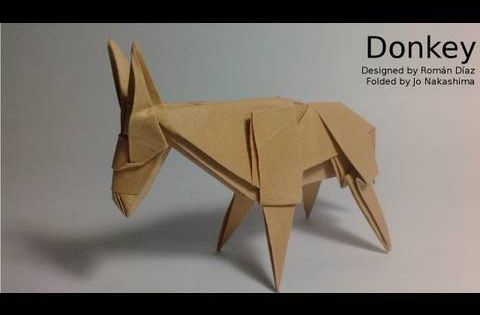 Origami donkey rom n d az not a tutorial paper for Pumpkinrot tutorial