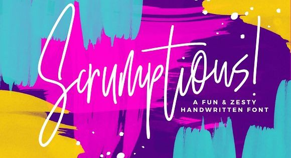 Scrumptious! A bouncy & fun handwritten font with zest for life.