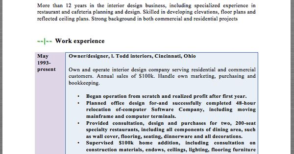 Interior Designer Resume Template MACROBUTTON DoFieldClick Your - ophthalmic technician resume