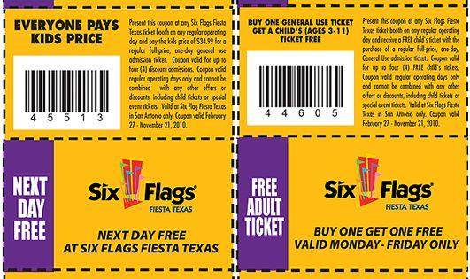 6 flags promo code
