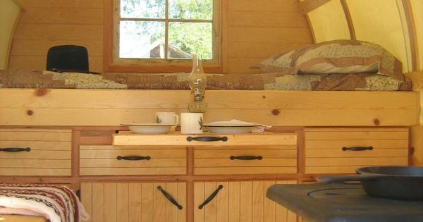 Sheep wagons converted into mobile living spaces of rustic charm around the worlds - The mobile shepherds wagon ...