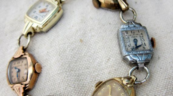 DIY Vintage Watch Bracelet.