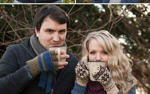 winter wedding anniversary photo shoot, cozy couple's portraits by Meg Brock Photography