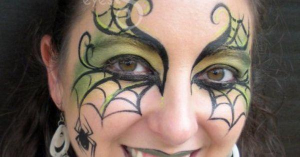 Spider web eye art