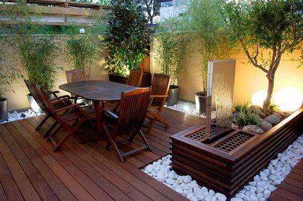 Ideas para patios peque os espacios jacuzzi y espacios - Como decorar un patio ...