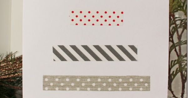 Use as a Thank you card DIY Washi Tape Christmas Card from