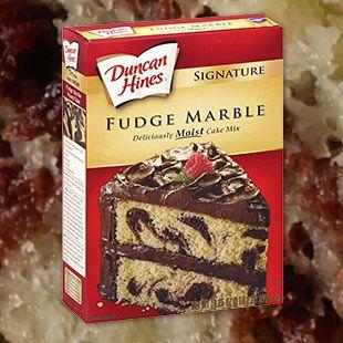 Signature Fudge Marble Cake Mix Duncan Hines Cake Mix Marble Cake Dessert Recipes